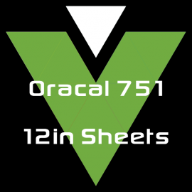 Oracal 751 - 12in Sheets