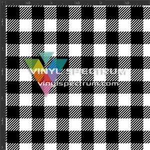 BBUF00 Black & White Baby Buffalo Plaid Orajet Gloss Sheet
