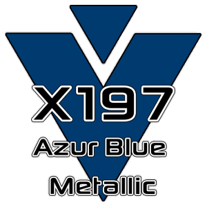 X197 Azure Blue Metallic 951 Sheet