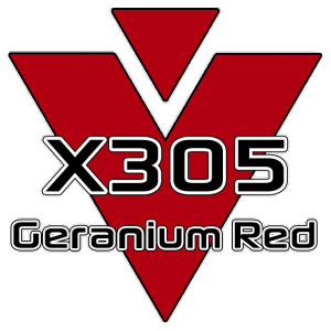 X305 Geranium Red 951 Sheet