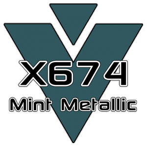 X674 Mint Metallic 951 Sheet
