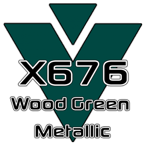 X676 Wood Green Metallic 951 Sheet