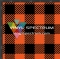 BUFF39 Orange & Black Buffalo Plaid Orajet Gloss Roll